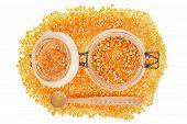 Corn Seed In Jar