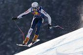 KITZBUHEL TIROL, AUSTRIA - JAN 24 2009; Kitzbuhel Tirol Austria, Christof Innerhofer (ITA) competing