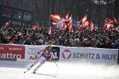 KITZBUHEL TIROL, AUSTRIA - JAN 24 2009; Kitzbuhel Tirol Austria, Hermann Maier (AUT) competing in th