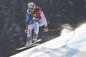 KITZBUHEL TIROL, AUSTRIA - JAN 24 2009; Kitzbuhel Tirol Austria, Carlo Janka (SUI) competing in the