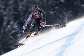 KITZBUHEL TIROL, AUSTRIA - JAN 24 2009; Kitzbuhel Tirol Austria, Andrew Weibrecht competing in the H