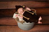 Newborn Baby In A Monkey Costume