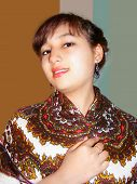 beautiful girl with shawl