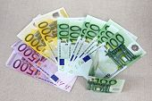 Euro Currency money : a set of banknotes 500, 200, 100