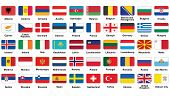 European Flags Icons