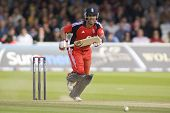 LONDON - 12 SEPT 2009; London England: England team player Owais Shah runs a single during the Nat W