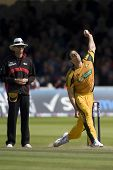 LONDON - 12 SEPT 2009; London England: Australia team player Mitchell Johnson during the Nat West, 4
