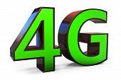 3D Sign Of 4G Broadband