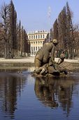picture of schoenbrunn  - Schoenbrunn castle a landmark of Vienna from the time of the Habsburgs - JPG