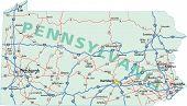 Mapa interestatal de Pennsylvania