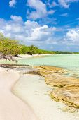 stock photo of coco  - Virgin tropical beach at Coco Key  - JPG