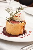 picture of beef wellington  - Fillet Wellington with fresh herbs - JPG