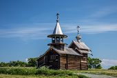 Archangel Michael wooden chapel on Kizhi island