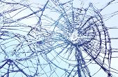 image of fracture  - Broken Glass vector llustration - JPG