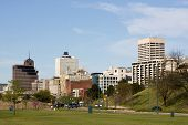 picture of memphis tennessee  - A view of the skyline of Memphis Tennessee looking north from the Mississippi River - JPG