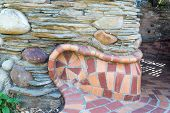 Colorful Stones And Ceramic Tiles Pattern