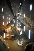 Underground Chamber Inside Turda Salt Mine