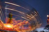 Funfair Nighttime Light Trails