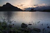 Stunning Mountain And Lake Sunrise Reflections Beautiful Landscape With Sunbeams