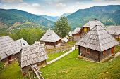 stock photo of serbia  - Mecavnik of Drvengrad village on Mokra Gora mountain - JPG