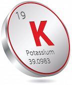 foto of potassium  - potassium element - JPG