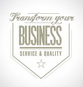 Transform Your Business Seal Message.