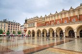 Old town of Cracow with Sukiennice landmark, Poland