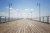 Lege houten Pier