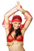 Oriental Dancer In Red Dress
