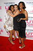 Terri J. Vaughn with Tisha Campbell and Tasha Smith at the premiere of