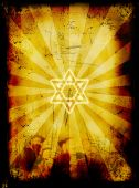 image of atonement  - Jewish Yom Kippur Grunge Background  - JPG