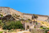 Road Around Fortress In Rethymno, Crete, Greece.