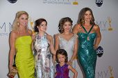 Julie Bowen, Ariel Winter, Sarah Hyland, Sofia Vergara, Aubrey Anderson-Emmons at the 2012 Primetime