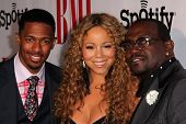 Nick Cannon, Mariah Carey, Randy Jackson at the 2012 BMI Urban Awards, Saban Theatre, Beverly Hills, CA 09-07-12