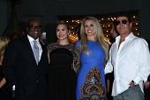 L.A. Reid, Demi Lovato, Britney Spears and Simon Cowell at the