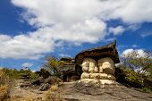 Twin Giant Mushroom Stone