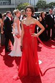 Morena Baccarin at the 2012 Primetime Creative Arts Emmy Awards, Nokia Theatre L.A. Live, Los Angeles, CA 09-15-12