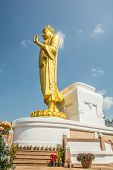 Standing Golden Buddha