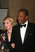 Joanna Shimkus and Sidney Poitier at the 17th Carousel of Hope Ball to benefit The Barbara Davis Cen