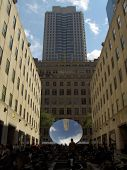 Anish Kapoor Sky Mirror at the Channel Gardens in Rockefeller Center, New York 10-27-06