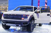 Detroit - January 26 :the New 2015 Fprd Raptor F150 Pickup Truck At The North American International