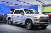 Detroit - January 26 :the New 2015 Ford F150 Pickup Truck At The North American International Auto S