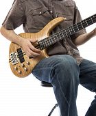 Bassist Playing A Bass Guitar