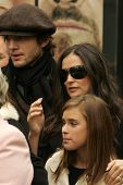 Ashton Kutcher with Demi Moore and Tallulah Belle Willis at the Ceremony honoring Bruce Willis with the 2,321st star on the Hollywood Walk of Fame. Hollywood Boulevard, Hollywood, CA. 10-16-06