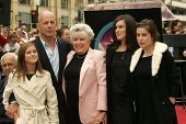Bruce Willis with his mother Marlene and his Daughters at the Ceremony honoring Bruce Willis with the 2,321st star on the Hollywood Walk of Fame. Hollywood Boulevard, Hollywood, CA. 10-16-06