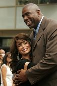 Paula Abdul and Magic Johnson at the Ceremony Honoring Los Angeles Lakers Owner Jerry Buss with the 2,323rd star on the Hollywood Walk of Fame. Hollywood Boulevard, Hollywood, CA. 10-30-06