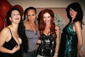 Jackie Watson and Mary Carey with Phoebe Price and Andrea Harrison at the birthday party for Phoebe