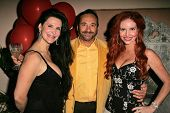 Jackie Watson with Jose Nazar and Phoebe Price at the birthday party for Phoebe Price. Private Locat