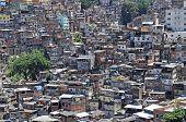 Brazilian Favela  In Rio De Janeiro
