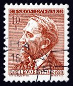 Postage Stamp Czechoslovakia 1954 Karel Kovarovic